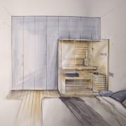 progetto sauna in camera da letto